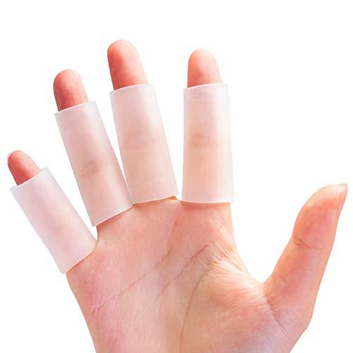 Sumifun Fingerschutz, 8 Stück Gel-daumenschutz die für Dornen, Schnitt, Fingerarthritis, Handekzem, Verbrennungen, Fingerschützer für Triggerfinger, rissiger Finger, weniger Reibung