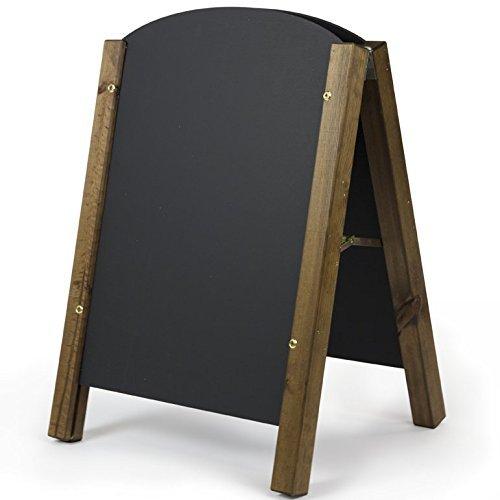 A1 Bois dense Chalkboards UK Tableaux noirs britannique Ch/êne fonc/é encadr/ée Tableau noir bois Noir 87 x 62.5 x 1.5cm noir