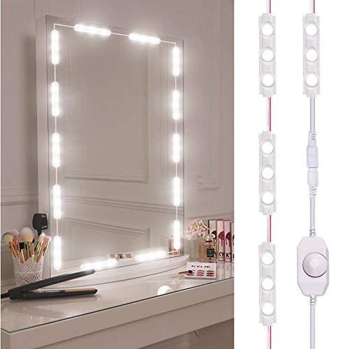 knowledgi - Luz de Espejo LED, iluminación de Espejo Regulable con 60 LED, luz para Maquillaje de 10 pies de Longitud, Espejo para Maquillaje de LED Blanco frío 6000 K (Espejo no Incluido)