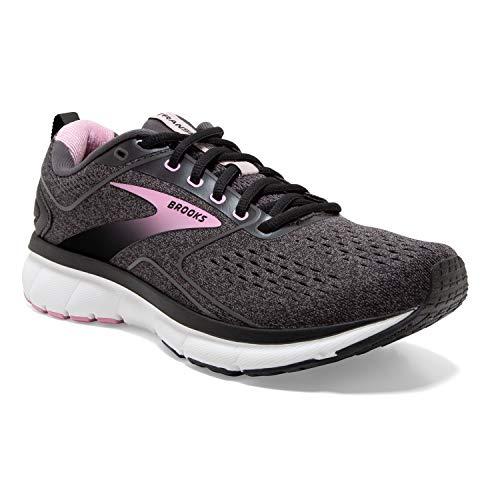 Brooks Women's Transmit 3 Running Shoe Running Shoe Black/Lilac Sachet/Blackened Pearl 8.5 B - Medium