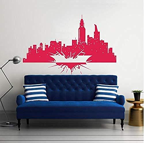 Vinyl Wandaufkleber The Dark Knight Skyline City Kinderzimmer Geschenk Home Decor Wallpaper Wandbild 42 * 68Cm