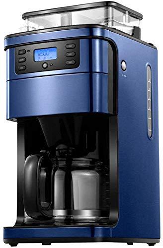 ZGQA-GQA Cafetera programable 2-12 Copa Cafetera con App Control del Bote Cafetera Goteo con Temporizador y térmica Filtro Pot Permanente Cafetera Azul