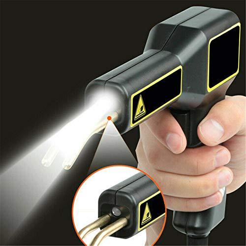 KKTECT Elektrische Kunststoffschweißpistole (50 W) Autostoßstangen-Reparatursatz mit LED-Licht mit 200 Stück Hitzewellen-Flachnägeln (4 Typen) für Instrumententafel/Lampenfassung/Stoßstange/Kühler
