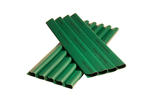 Enjoy-Quality Lot de 24 clips de fixation pour brise-vue en PVC - Protection contre le vent pour le jardin et la clôture - Clips de fixation - Clôture double - Vert mousse
