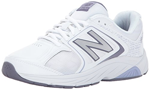 New Balance Women's 847V3 Walking Shoe, White/Grey, 8.5 2A US