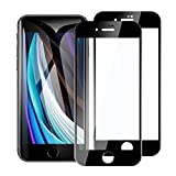 2枚入り iPhone se 第2世代 (2020) 用 全面保護フィルム 4.7inch 強化ガラス 2.5Dラウンドエッジ/飛散防止/指紋防止/硬度9H/高透過率 発売後開発版