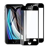 2枚入り iPhone se 2020 用 全面保護フィルム 4.7inch 強化ガラス 2.5Dラウンドエッジ/3D Touch対応/飛散防止/指紋防止/硬度9H/高透過率 適用機種 アイフォン8 / 7 / 6 / 6s