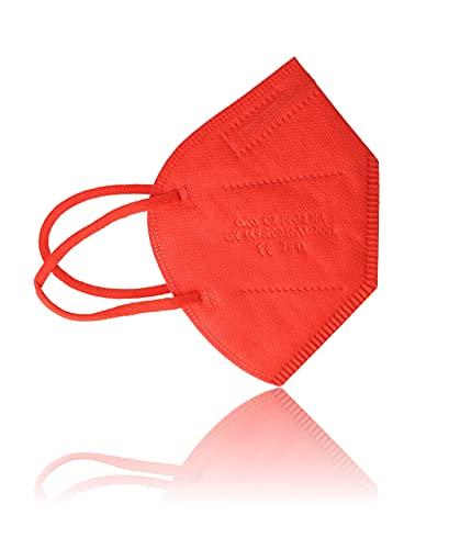AKA FFP2 Atemschutzmasken 10 Stück einzeln verpackt CE-zertifiziert (rot)