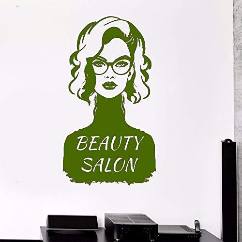 xingbuxin Wandtattoo Frauen Mode Aufkleber Mädchen Schönheitssalon Vinyl Wandaufkleber Hohe Qualität Fenster Decor Geschenk DIY Kunstwand 5 57x100 cm