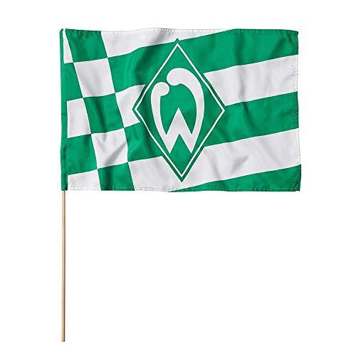 Unbekannt SV Werder Bremen Fahne/Stockfahne ** Karo und Streifen ** 60 x 40 cm
