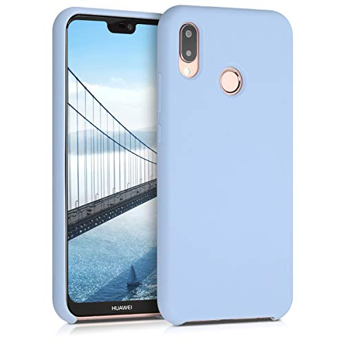 kwmobile Cover Compatibile con Huawei P20 Lite - Custodia in Silicone TPU - Back Case Protezione Cellulare Blu Chiaro Matt