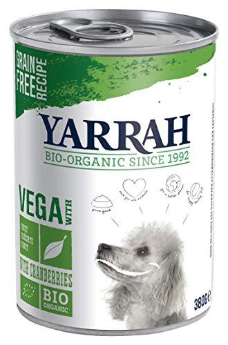 YARRAH Alimento orgánico para Perros Vega, sin Cereales con arándanos 380 g, 12 Unidades (12 x 380 g)