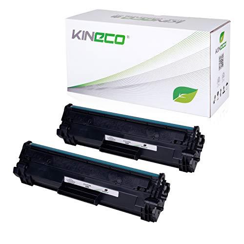 2X Kineco Toner MIT CHIP Kompatibel mit HP CF244A 44A Laserjet Pro M15a M15w M17a M17w MFP M28a M28w