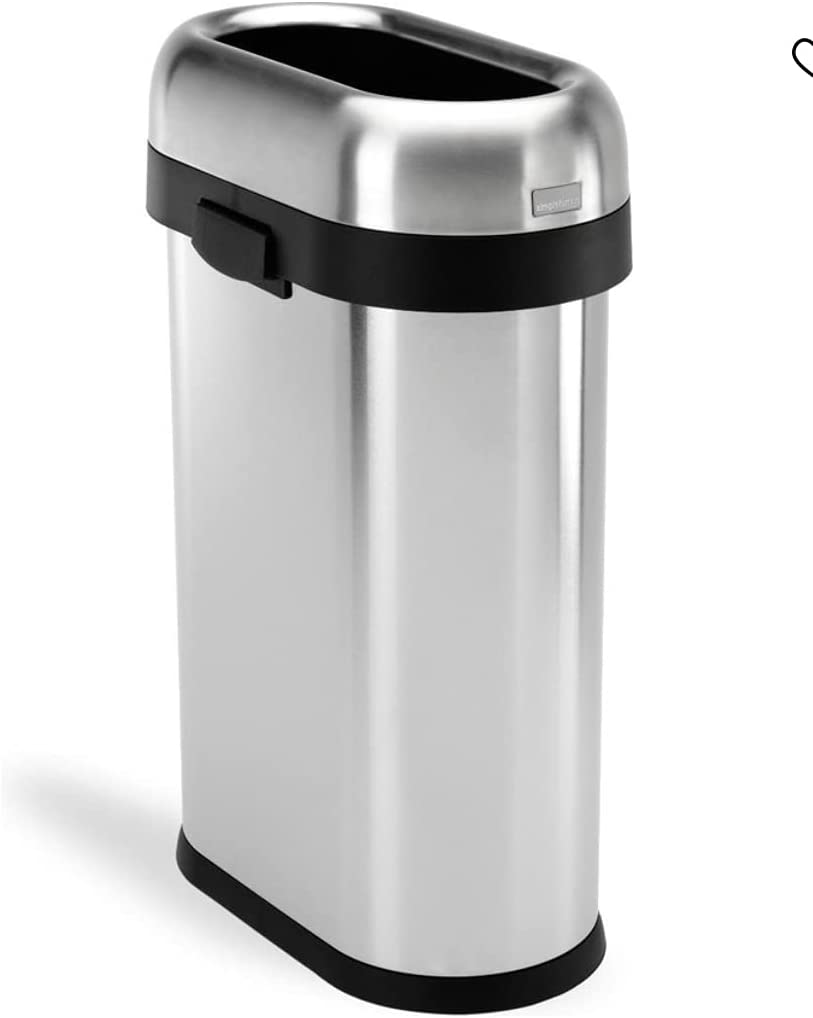 simplehuman 50 Albuquerque Mall Limited Special Price Liter 13.2 Gallon Slim Trash Open Can Comm Top
