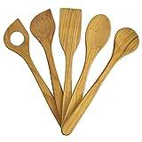 SOHFA Küchenutensilien Set – 5 teilig aus Kirschholz | Küchenhelfer aus Holz: Pfannenwender und Kochlöffel | nachhaltige Koch-Utensilien - Made in Germany