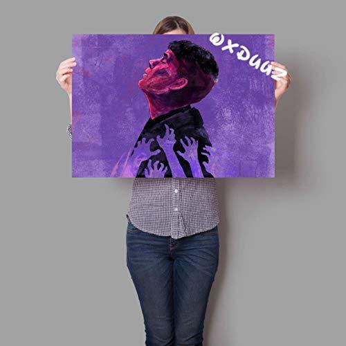 Britse populaire gangster misdaad type tv-serie Peaky Blinders aquarel inkt schilderij familie decoratie schilderij poster, 19,30cmX42cmA3 geen frame