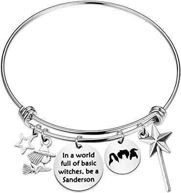 Hocus Pocus Witches Gifts Sanderson Sister Bracelet in A World Full of Basic Witches Jewelry for Women Movie Lovers Gifts (Be a Sanderson Bracelet)