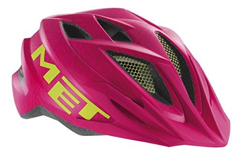 MET Fahrradhelm Crackerjack, Pink/Green, 52-57 cm