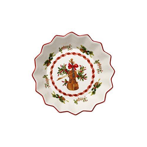 Villeroy & Boch Toy's Fantasy Fuente con motivo de violín, pequeña de Premium Porcelain con motivo de violín,...
