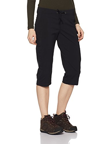 Columbia Women's Anytime Outdoor Capri, Water and Stain Repellent, Black, 8x18