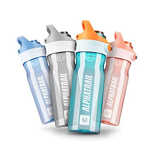 Alphatrail Botella Agua Tritan Jimmy 500ml Verde I 100% Prueba de Fugas I sin BPA & Ecológicamente I Seguro Lavavajillas I Abertura para Beber Funcional para una óptima hidratación Durante el Deporte