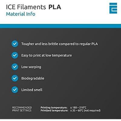 Galvanized Grey ICE Filaments ICEFIL1PLA190 PLA filament 1.75mm 0.75 kg