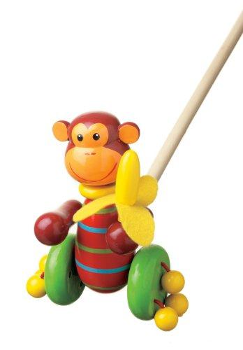 Affe Schiebetiere. Traditionelle Holz-Spielzeug.