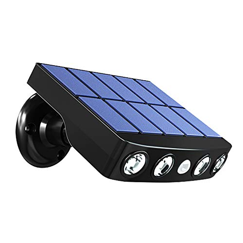 YWJPJ. Luces de Pared solares, al Aire Libre, Luces de Seguridad Solar, Sensor de Movimiento, lámparas Impermeables inalámbricas IP65, Luces de Paso de Cerca para Garaje con 3 Modo para Exteriores