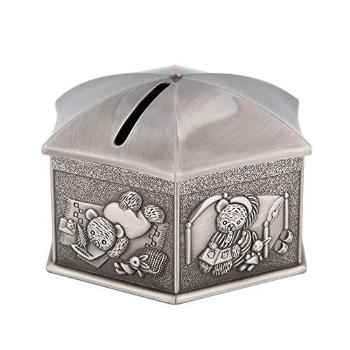 Zeshoekige Wigwam Piggy Bank, doopcadeau voor kinderen, gelddoos, muntopslag, creatieve huisdecoratie, metalen handwerken, doe-het-zelf