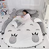 BJZP Colchón para niños Espesar Suave Totoro de Dibujos Animados Tatami Felpa Perezosa Almohadilla para Dormir Lindo Saco de Dormir Sofa Cama, Adecuado para Dormitorios,2.0x1.3m