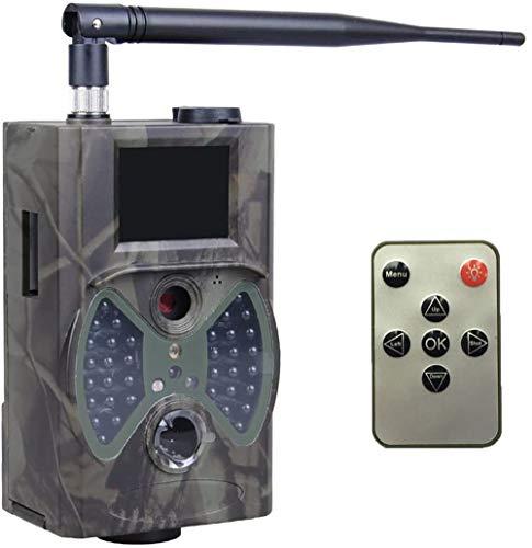 YTLJJ 2G Wildkamera Fotofalle 12MP 1080P mit Handy übertragung, IP54 wasserdichte Jagdkamera mit bewegungsmelder Low-Glow 940nm Infrarot-LEDs, Infrarot-Nachtsicht 20m mit SD-Karte