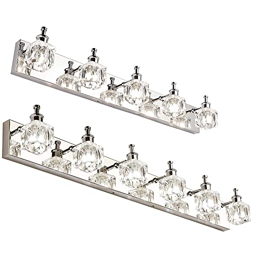PRESDE Bathroom Vanity Light Fixtures Over Mirror 5 Lights with 6 Lights