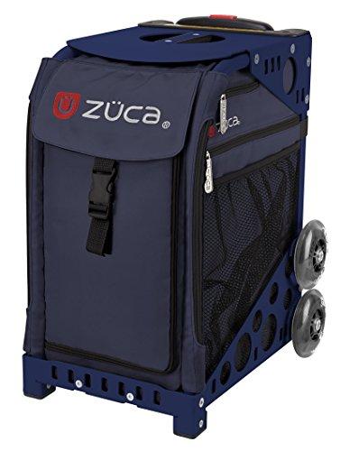 ZUCA deporte Insertar Bolsa medianoche y azul marino marco con intermitente Ruedas