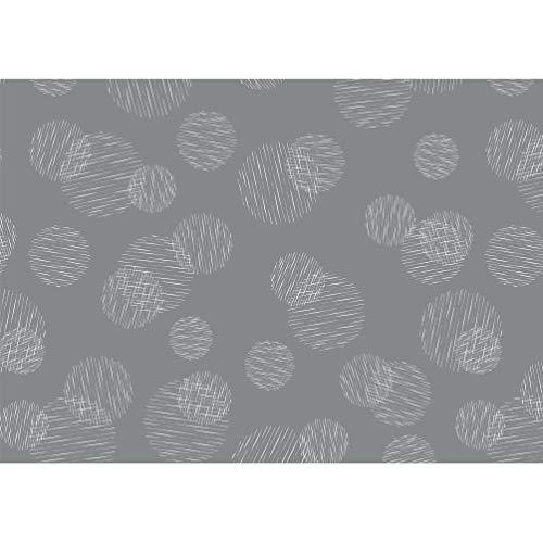 Susy Card 40028729 - Geschenkpapier Rolle Weihnachten, 2 m, Scribbled Circles grau , 1 Stück