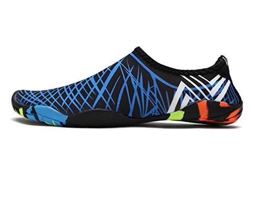 Descalzo Zapatos De Agua,De Agua para Buceo Snorkel Surf Piscina Playa Vela Mar Río Aqua Cycling Yoga Escarpines