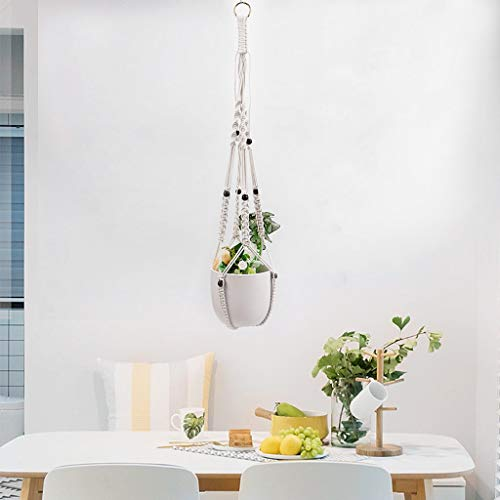Shirt Luv Home Decor Europe Plant Hangers Indoor Hanging Planter Basket with Wood Beads Decorative