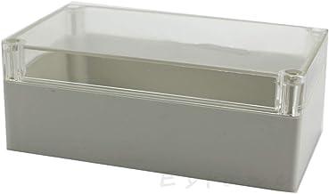 ZZALLL Custodia in plastica Impermeabile con Coperchio Trasparente per Scatola di progetti elettronici 115x90x55MM