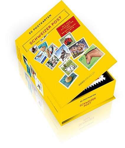 Postkartenbox 50 Tier-Briefmarken als Postkarten: In Kooperation mit Briefmarken Philatelie der Post CH AG