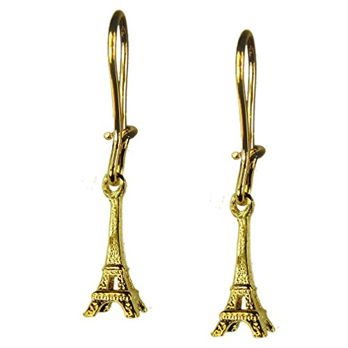 Souvenirs of France - Eiffel Tower Paris Earrings - Material: 18-Carat Solid Gold