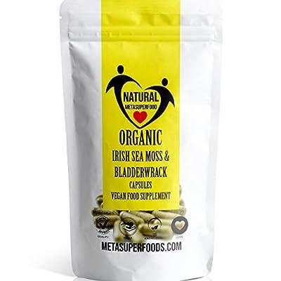 Sea Moss and Bladderwrack 60 Capsules (3600mg) High Potency | Vegan | Immune Support | Non GMO | Dr Sebi