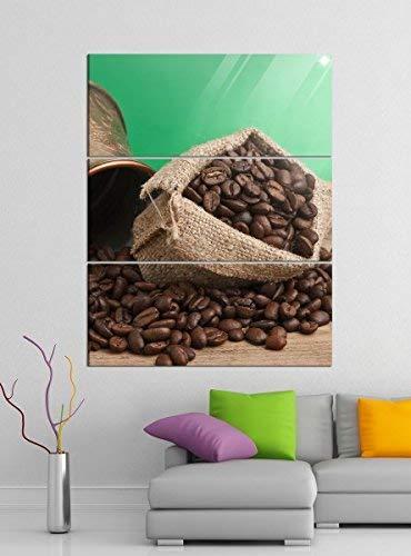 Acrylglasbilder 3 Teilig 100x120cm Kaffee Bohnen Coffee Sack Küche Acrylbild Acrylglas Acrylbilder Wand Bild 14E310, Acrylglas Größe 7:BxH Gesamt 100cmx120cm