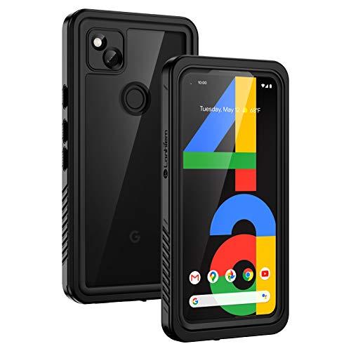 Lanhiem Cover Google Pixel 4a(5.8 ),Custodia Impermeabile Google Pixel 4a[IP68 Certificato Waterproof]con Protezione dello Schermo Antiurto Antipolvere AntiGraffio Subacquea Caso per Pixel 4a,Nero