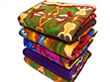 Shivaan Home Furnishing Multipurpose Polar Fleece Single Printed Bed Fleece Blanket (Set of 5)-Assorted Multicolor(Light Weight)