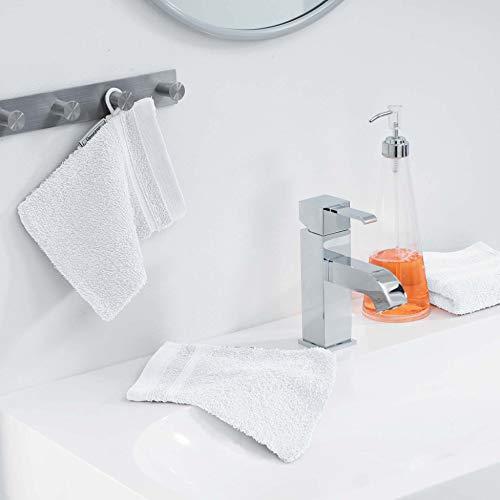 douceur d'intérieur 2 gants de toilette 15x21 cm eponge vitamine blanc