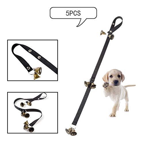 Sevenshop Timbre para Mascotas Cuerda Campana de Cobre de Navidad Perro Fuera Advertencia Alarma Guía Colgante de Timbre para Perro - - 7 Campanas