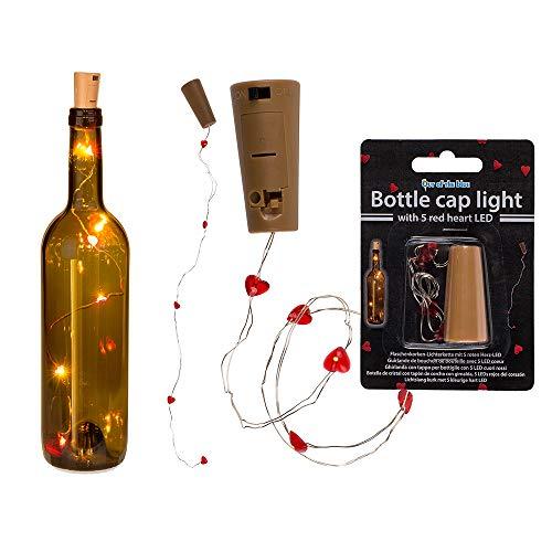 Mini cadena de luces de corazón para botellas – regalo de relleno de galletas