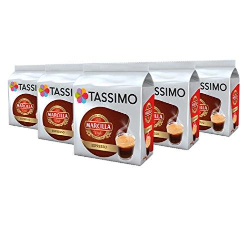 TASSIMO Marcilla Espresso Kaffee Kapseln Refills T Discs Pods 5er Pack, 80 Getränke