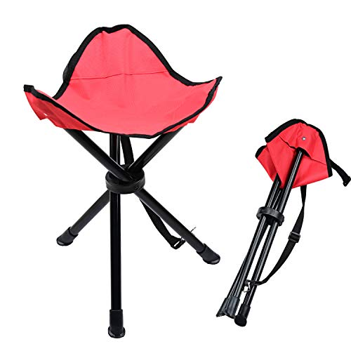 Taburete plegable de camping Lychee al aire libre de tres patas plegable...