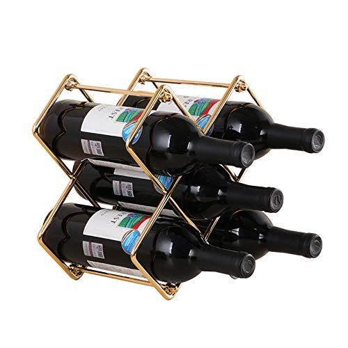 Weinregal Metall Flaschenregal für 5 Flaschen Stapelbar Freistehende Weinhalter Weinständer Flaschenständer Weinflaschenhalter für Weinflaschen Oder Andere Getränke SPDYCESS