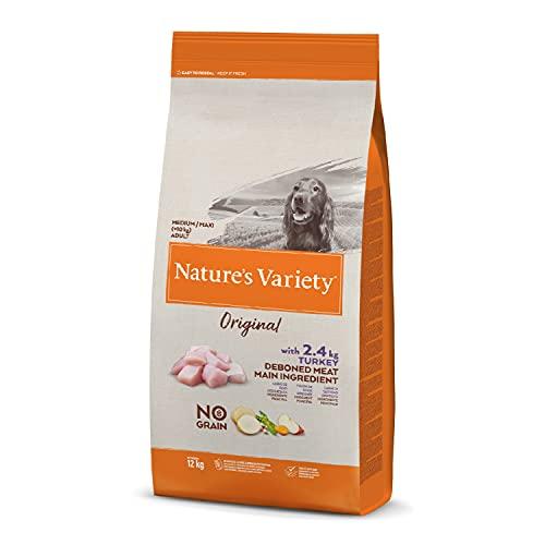 Nature's Variety Original No Grain - Croquettes pour chiens adultes avec dinde désossée 12 kg